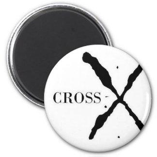 Productos de la Cruz-x Imán Redondo 5 Cm