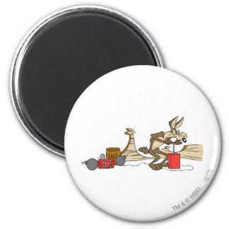Productos de la cumbre del coyote del Wile E 11 2 Imán Redondo 5 Cm