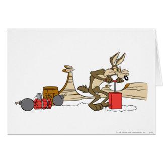 Productos de la cumbre del coyote del Wile E 11 2 Felicitacion