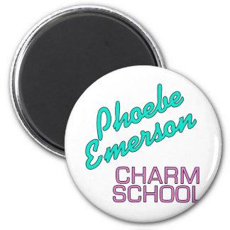 Productos de la escuela del encanto de Phoebe Emer Imán Redondo 5 Cm