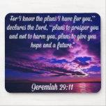 Productos de la gloria de dios del 29:11 de Jeremi Alfombrillas De Ratón