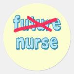 Productos de la graduación de la enfermera pegatinas