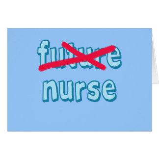 Productos de la graduación de la enfermera tarjeta de felicitación