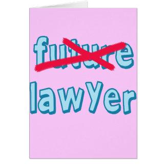 Productos de la graduación del abogado tarjeta de felicitación