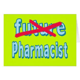 Productos de la graduación del farmacéutico tarjeta de felicitación