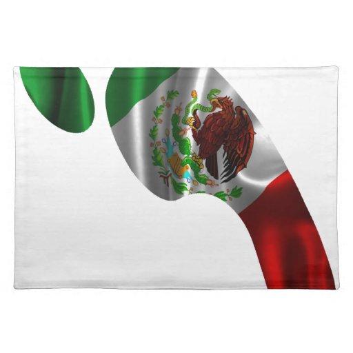 PRODUCTOS DE LA HUELLA DE LA BANDERA DE MÉXICO MANTELES INDIVIDUALES