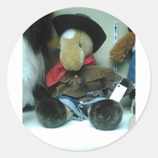 Productos de la muñeca de Coyboy del elefante Pegatina Redonda