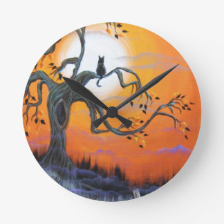 Productos de la noche de Halloween Reloj Redondo Mediano