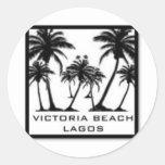 Productos de la playa de Victoria Etiqueta Redonda