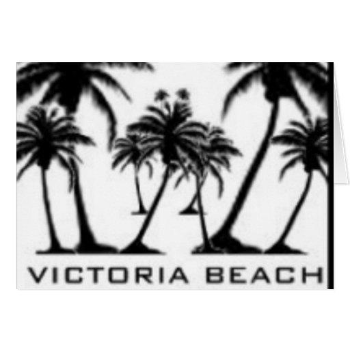 Productos de la playa de Victoria Tarjetón