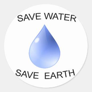 ¡Productos de la protección de agua! Pegatina Redonda