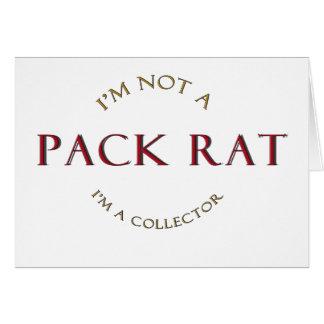 Productos de la rata de paquete tarjeta de felicitación