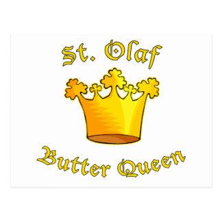 Productos de la reina de la mantequilla del St. Ol Tarjetas Postales