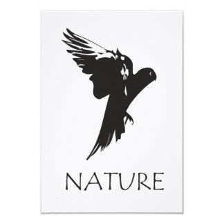Productos de la serie de la naturaleza del Macaw Invitación 8,9 X 12,7 Cm