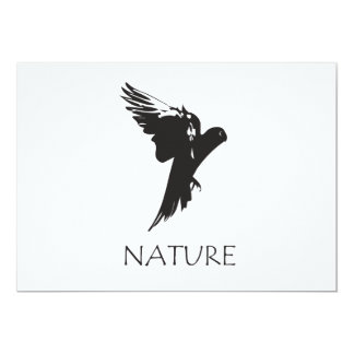 Productos de la serie de la naturaleza del Macaw Invitación 12,7 X 17,8 Cm
