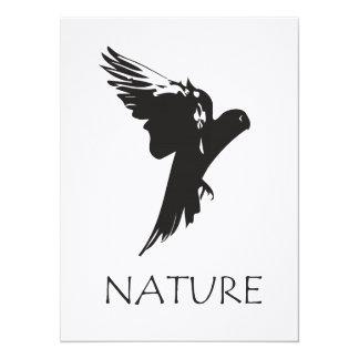 Productos de la serie de la naturaleza del Macaw Invitación 13,9 X 19,0 Cm