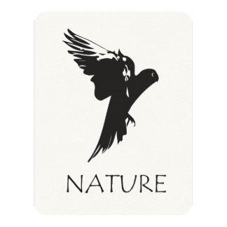 Productos de la serie de la naturaleza del Macaw Invitación 10,8 X 13,9 Cm
