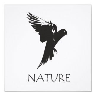 Productos de la serie de la naturaleza del Macaw Invitación 13,3 Cm X 13,3cm
