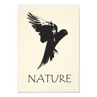 """Productos de la serie de la naturaleza del Macaw Invitación 3.5"""" X 5"""""""