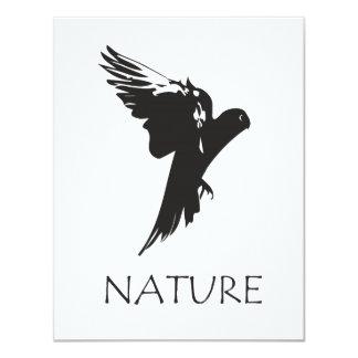 """Productos de la serie de la naturaleza del Macaw Invitación 4.25"""" X 5.5"""""""