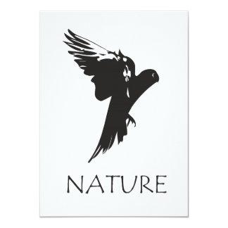 """Productos de la serie de la naturaleza del Macaw Invitación 4.5"""" X 6.25"""""""
