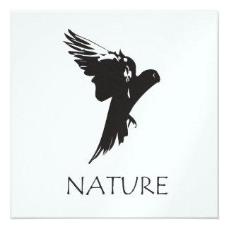 """Productos de la serie de la naturaleza del Macaw Invitación 5.25"""" X 5.25"""""""