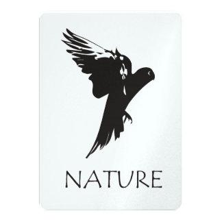 """Productos de la serie de la naturaleza del Macaw Invitación 5"""" X 7"""""""