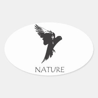 Productos de la serie de la naturaleza del Macaw Pegatina Ovalada