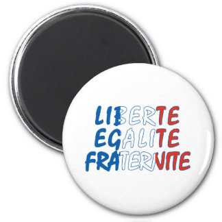Productos de Liberte Egalite Fraternite Imán Redondo 5 Cm