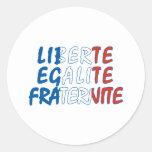 Productos de Liberte Egalite Fraternite Pegatina Redonda
