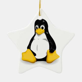Productos de Linux Tux Adorno Navideño De Cerámica En Forma De Estrella