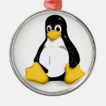 Productos de Linux Tux Adorno Navideño Redondo De Metal