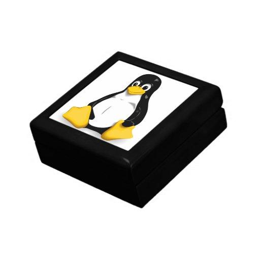 Productos de Linux Tux Joyero Cuadrado Pequeño