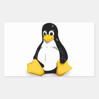 Productos de Linux Tux Rectangular Pegatina