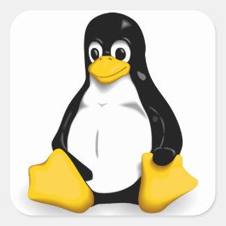 Productos de Linux Tux Pegatinas Cuadradas Personalizadas