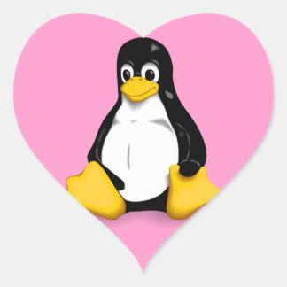 Productos de Linux Tux Colcomanias De Corazon