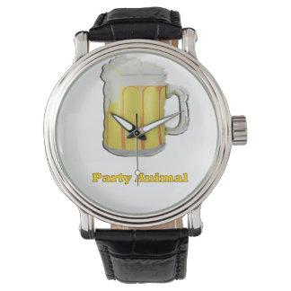 Productos de los bebedores de cerveza reloj