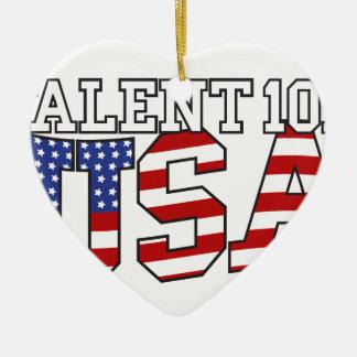 Productos de los E.E.U.U. del talento 101 Adorno Navideño De Cerámica En Forma De Corazón