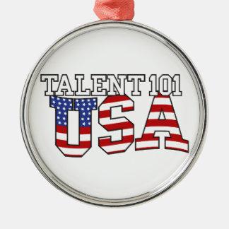 Productos de los E.E.U.U. del talento 101 Adorno Navideño Redondo De Metal
