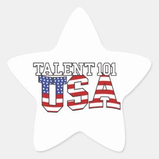 Productos de los E.E.U.U. del talento 101 Pegatina En Forma De Estrella