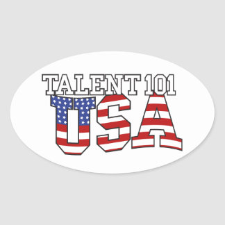 Productos de los E.E.U.U. del talento 101 Pegatina Ovalada