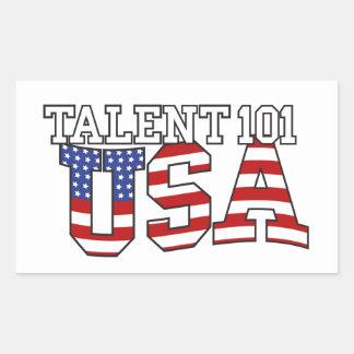 Productos de los E.E.U.U. del talento 101 Pegatina Rectangular