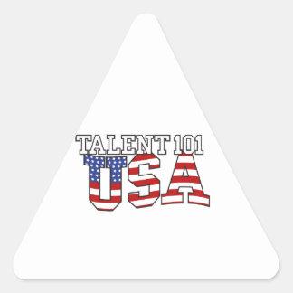 Productos de los E.E.U.U. del talento 101 Pegatina Triangular
