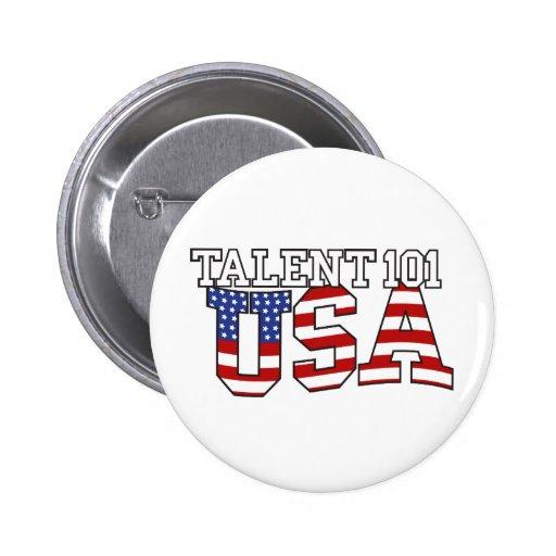 Productos de los E.E.U.U. del talento 101 Pin Redondo 5 Cm