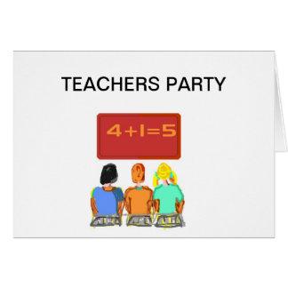 Productos de los profesores tarjeta de felicitación