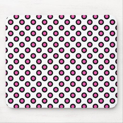 productos de lunares rosados y negros mouse pad