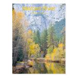 Productos de noviembre Yosemite California del río Tarjeta Postal