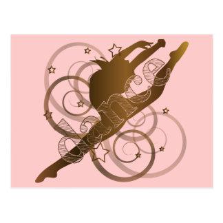 Productos de papel de la danza tarjetas postales