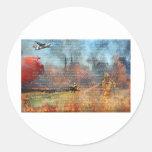 Productos de papel del bombero pegatinas redondas