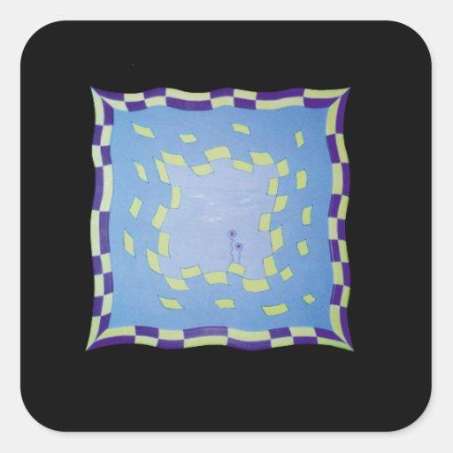 Productos de papel gráficos pegatina cuadrada